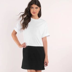 Tobi White & Black Shift Dress